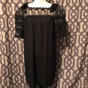 Dresses & Skirts - Vintage black lace babydoll dress **Read details